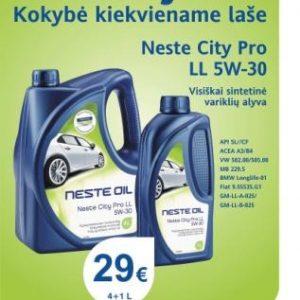 Akcija - Neste City Pro LL 5W-30 4+1L el.pastu